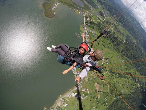Paragliding at Nepal