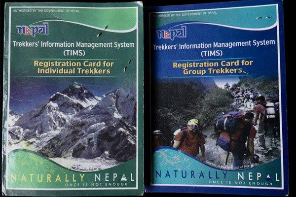 Nepal trekking permit