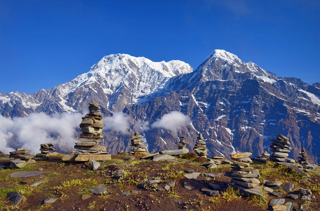 Mountain Landscape in Himalaya, Mardi Himal Trek