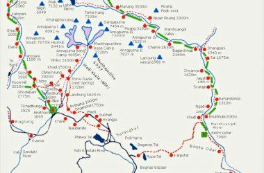 Annapurna Circuit Trekking Route and Map