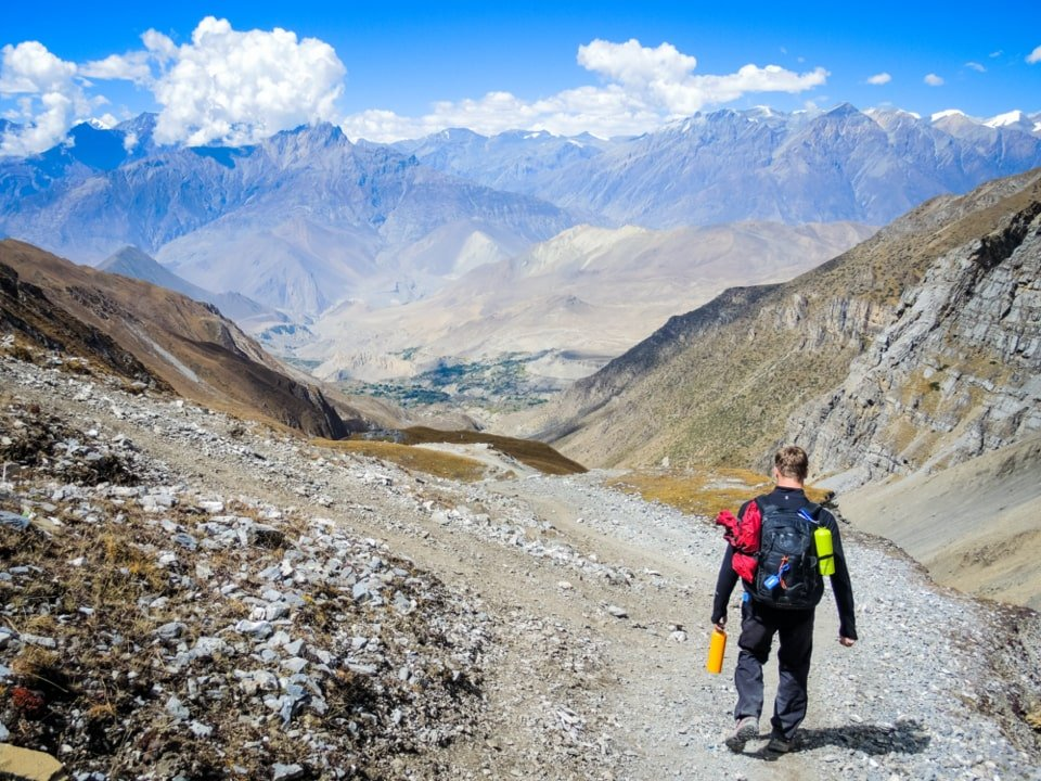 tourist trekking in nepal