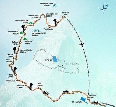 Dhaulagiri Circuit Map