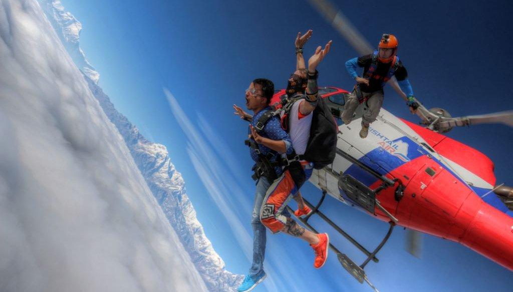 Skydiving Pokhara Nepal